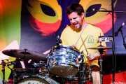 Xavi G. Pereiro, baterista de Novedades Carminha (Hirian Festibala, Bilbao, 2017)