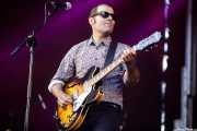 Angel Kaplan, guitarrista de Peralta (Andoaingo Rock Jaialdia, Andoain, 2017)