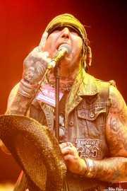 Scotty P, cantante y guitarrista de Crank County Daredevils (Azkena Rock Festival, Vitoria-Gasteiz, 2017)