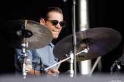 Lieven Declercq, baterista de Pat Capocci (Azkena Rock Festival, Vitoria-Gasteiz, 2017)