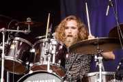 Phil Beaver, baterista de Inglorious (Azkena Rock Festival, Vitoria-Gasteiz, 2017)