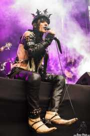 Pat Briggs, cantante de Psychotica (Azkena Rock Festival, Vitoria-Gasteiz, 2017)