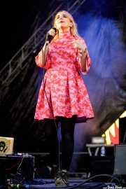 Katie Stelmanis, cantante de Austra (Bilbao BBK Live, Bilbao, 2017)