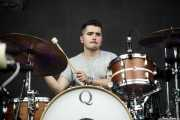 Alvaro Olaetxea, baterista de Empty Files (Bilbao BBK Live, Bilbao, 2017)