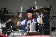 Joe Emmett, baterista de The Amazons (Bilbao BBK Live, Bilbao, 2017)