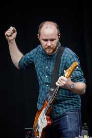 Michael James, guitarrista de Explosions in the Sky (Bilbao BBK Live, Bilbao, 2017)