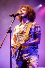Rodrigo Farmer, cantante, mandolina y banjo de The Fatty Farmers (Aste Nagusia - Plaza Nueva, Bilbao, 2017)
