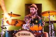 Juankar, baterista de The Fatty Farmers (Aste Nagusia - Plaza Nueva, Bilbao, 2017)