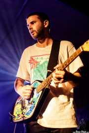 Josu Ximun, cantante y guitarrista de Lukiek (Aste Nagusia - Algara Txosna, Bilbao, 2017)