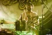 Roberto Villar, baterista de Yellow Big Machine (Aste Nagusia - Algara Txosna, Bilbao, 2017)