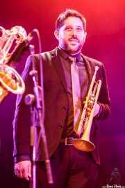 Antonio García, trompetista de Freedonia (Aste Nagusia - Plaza Nueva, Bilbao, 2017)