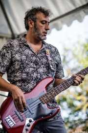 Jose, bajista  de The Oddballs (Festivalle Tobalina, Quintana Martín Galíndez, 2017)