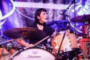 "Viki ""Larookie"" Gómez, baterista de The Boo Devils (Festivalle Tobalina, Quintana Martín Galíndez, 2017)"
