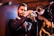Bruno Rocha, trompetista de TT Syndicate (Festivalle Tobalina, Quintana Martín Galíndez, 2017)