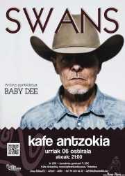 Cartel de Swans (Kafe Antzokia, Bilbao, )