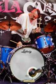 Rockin Richard, baterista de The Mindreaders (Funtastic Dracula Carnival, Benidorm, 2017)