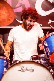 Hector Bardisa, baterista de Futuro Terror (Funtastic Dracula Carnival, Benidorm, 2017)
