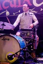 Neil Mooney, baterista de The Pacifics (Funtastic Dracula Carnival, Benidorm, 2017)