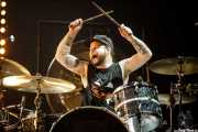 Ben Thatcher, baterista de Royal Blood (BIME festival, Barakaldo, 2017)