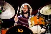 Adrián Ceballos, baterista de Melange (BIME festival, Barakaldo, 2017)