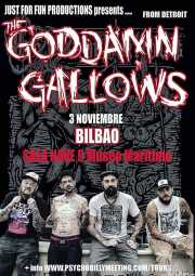Cartel de The Goddamn Gallows (Nave 9 (Museo marítimo), Bilbao, )
