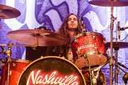 Ben Thomas, baterista de Nashville Pussy (Kafe Antzokia, Bilbao, 2017)