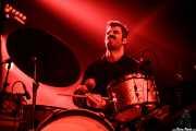 Carlos Jimena, baterista de Guadalupe Plata (Santana 27, Bilbao, 2017)