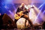 Nicke Borg, cantante y guitarrista de Backyard Babies (Santana 27, Bilbao, 2017)