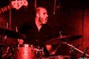 Galder Creo, baterista de Cavaliere (La Ribera, Bilbao, 2018)