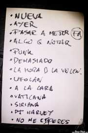 Setlist de Cavaliere (La Ribera, Bilbao, 2018)