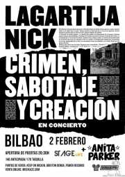 Cartel de Lagartija Nick (Sala Stage Live (Back&Stage), Bilbao, )
