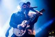 """Gorka Roman """"Osman"""" -voz y guitarra- y Haimar Arejita -guitarra invitado- de The Riff Truckers eta lagunak (Santana 27, Bilbao, 2018)"""