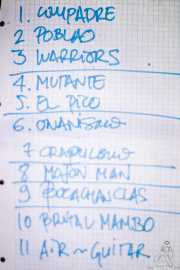 Setlist de Motociclón (Santana 27, Bilbao, 2018)