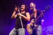 """Manu """"Gallego"""" -voz- y Zebu """"Porco"""" -guitarra- de Porco Bravo (Santana 27, Bilbao, 2018)"""
