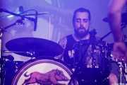 "Oskar ""Puro d'oliva"",  baterista de Porco Bravo (Santana 27, Bilbao, 2018)"