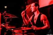 Juan Marco, baterista de The Diesel Dogs (Shake!, Bilbao, 2018)