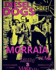 Cartel de The Diesel Dogs y Morraia (Shake!, Bilbao, )