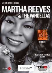 Cartel de Martha Reeves & The Vandellas (Sala BBK, Bilbao, )