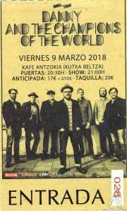 Entrada de Danny & The Champions of the World (Kafe Antzokia, Bilbao, )