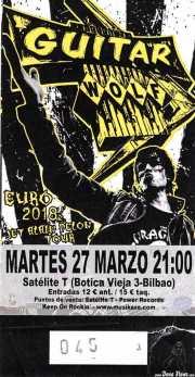 Entrada  de Guitar Wolf (Satélite T, Bilbao, )