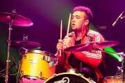 Mikel Bilbao, baterista de TOC (Kafe Antzokia, Bilbao, 2018)