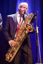 Nicolás Rodriguez-Jauregui, saxofonista, saxofonista de The Excitements (Kafe Antzokia, Bilbao, 2018)