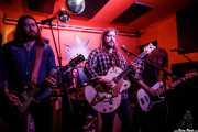 Jax Sedgwick -guitarra-, Andy Bates -batería-, Hoss Thompson -voz y guitara- y Steve Revier -bajo- de Thirteen Stars (Shake!, Bilbao, 2018)