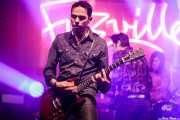 Carlo Landini -guitarra-, Hervé Peroncini -voz y guitarra-  y Tommy Gonzalez -batería- de The Peawees (FuzzVille - Magic Robin Hood Resort, Alfaz del Pi, 2018)