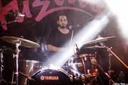 Marcos Escobar, baterista de The VibroWaves (FuzzVille - Magic Robin Hood Resort, Alfaz del Pi, 2018)