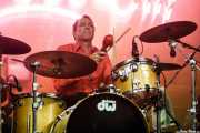 David Shaw, baterista de The Stems (FuzzVille - Magic Robin Hood Resort, Alfaz del Pi, 2018)