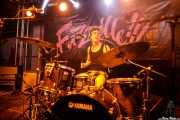 Borja Téllez, cantante y baterista de Los Bengala (FuzzVille - Magic Robin Hood Resort, Alfaz del Pi, 2018)