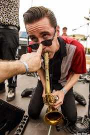Spencer Evoy, saxofonista de The Fuzillis (FuzzVille - Magic Robin Hood Resort, Alfaz del Pi, 2018)