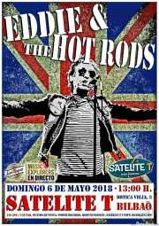 Cartel de Eddie and the Hot Rods (Satélite T, Bilbao, )