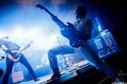 Paulo Furtado -voz y guitarra- y Filipe Rocha -bajo- y Paulo Segadães -batería- de The Legendary Tigerman (Andoaingo Rock Jaialdia, Andoain, 2018)